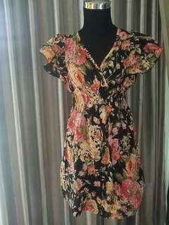 Dress printed flower