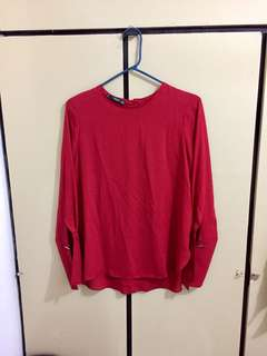 Mango Formal Red Top