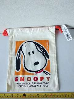 Snoopy 布索袋 Made in Japan