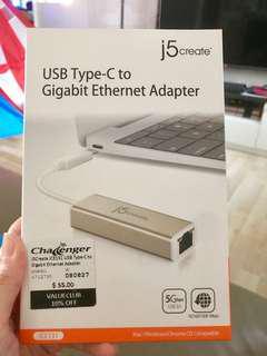 USB Type-C to Gigabit Ethernet Adapter