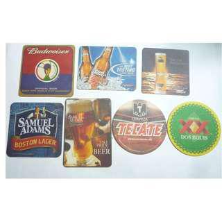 USA America BEER MAT COASTER Budweiser Miller Samuel Adams Tecate Collect DRIP MAT 2006-2012