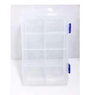 小物收納 長20cm*寬13.5cm*高4.5cm  可拆八大格收納盒