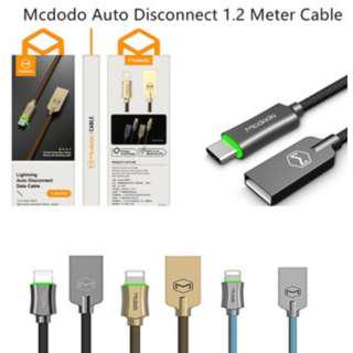 Mcdodo Auto Disconnect Fast Charging 1.2 meter USB