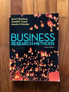 Business research methods textbooks carousell singapore business research methods 4th edition fandeluxe Image collections