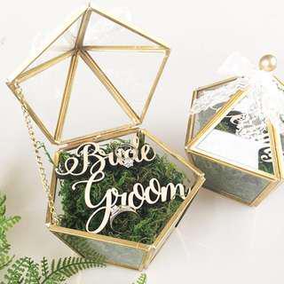 Wedding Ring Terrarium in GOLD