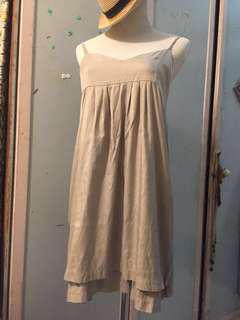 Silky dress soft light grey