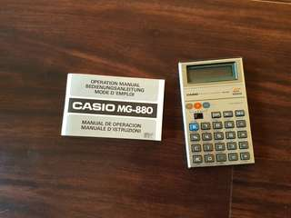 🚚 Casio MG 880