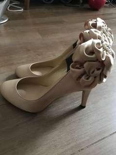 Jelly Beans 副線 Le Chione 金色蝴蝶高踭鞋 high heels