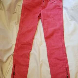 H&M RED PANTS JEANS