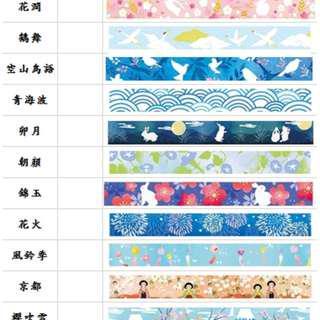 紙膠帶 人生若只如初見 巒山紀 京都裝飾