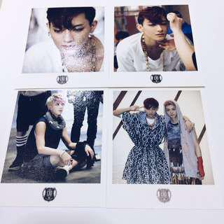 [PRE-LOVED] Official SM Goods EXO Wolf Polaroids