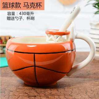 Cute Artistic Basketball design Mug / Cup / Bowl