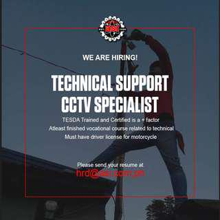 Technical Support CCTv Specialist