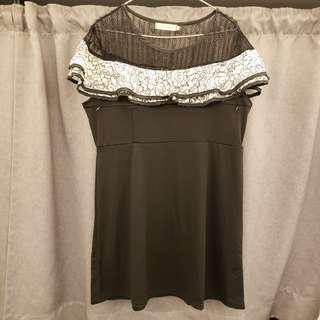 靚靚黑色連身哺乳裙