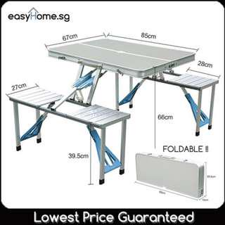 🚚 FTC Foldable Table With Chairs/ Portable Folding Camping