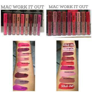 Mac Work It Out Lipsticks