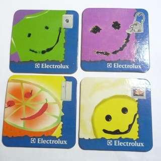 1990's ELECTROLUX Electonics 4pc COASTER SET Advertising Singapore