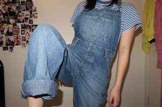 authentic vintage just jeans denim overalls