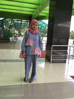 Sepasang baju emadaily ema daily