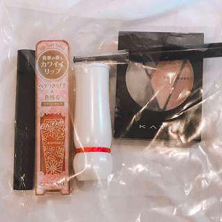 5 items pack: eyeliner, eyeshadow, lipstick