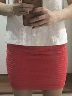 Forever 21 mini skirt pink