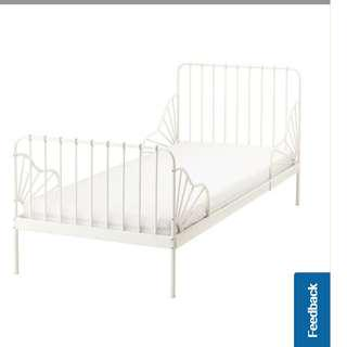 Bed extendable powder coated Steel with bedmatress