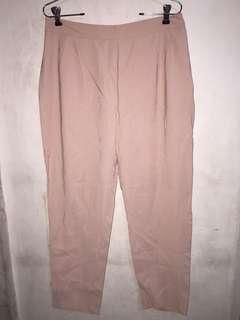 Zara pink pink crop pants large