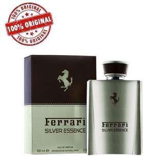 Ferrari Silver Essence EDP 100ml Perfume (Authentic) + Free Pouch Bag
