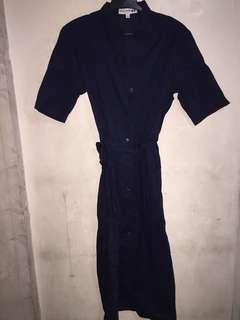 Uniqlo ines de la fressange shirt dress large