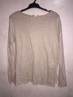 H&m knit sweater medium beige