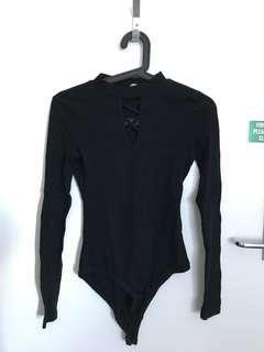 Women criss cross body suit size s