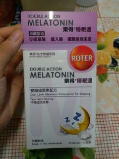 全新 double action melatonin 樂得 睡眠適 一盒