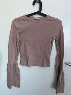 Dusty pink top size s