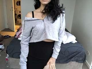 Kalara cropped hoodie