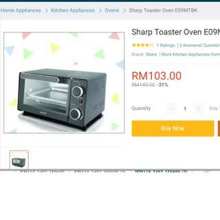 SHARP OVEN TOASTER 9L [NEW]
