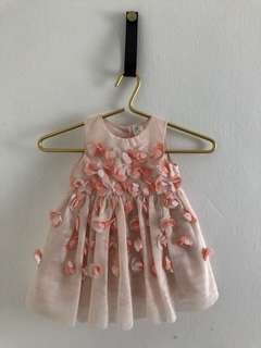 ★。 H&M Flower Peach Baby Girl.。一★  12-18 months✧FREE Postage within Malaysia