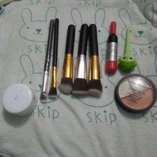 Kuas/Brush makeup, lip tint, fondation, eyeliner, contour