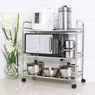 Kitchen Portable Movable Rack Stainless Steel