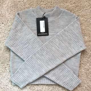 PLT Grey Knit Crop Jumper