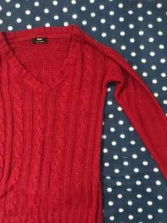 Red Knitwear