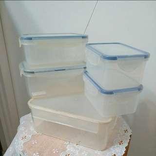 透明防漏 食物盒  6 個