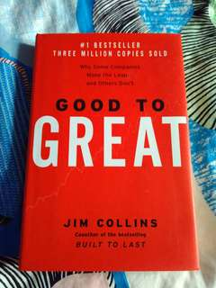 good to great - Jim collins - hardcover - english