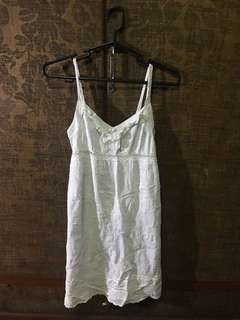 White Spag Strap Bayo Party Dress