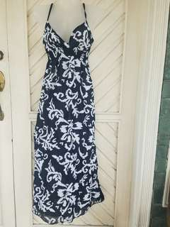 Imported Black and White Floral Print