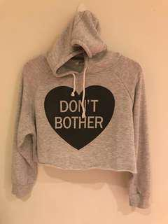 Honeys Crop pullover hoodie