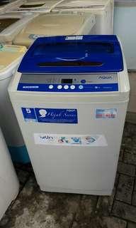 Mesin cuci Aqua 9 KG, pemakaian 3 bulan