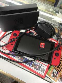二手連遊戲switch 9成新 瑪利奧特別版主機