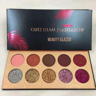 Hospitable Beauty Glazed Pro Makeup Glitter Eyeshadow Cosmetic Makeup Shimmer Pigment Pressed Powder Beauty Eye Shadow Kit 10 Colors Beauty Essentials Eye Shadow