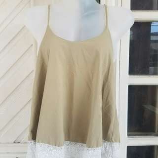 Beige with Lace Top