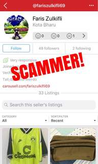 Potential SCAMMER! Part 2 of 2